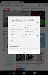 Canon Print Service- screenshot thumbnail