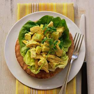 Curried Chicken Salad on Whole-Wheat Pitas.