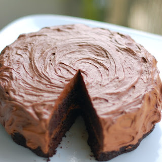 Double Chocolate Cake with Buttercream Frosting.