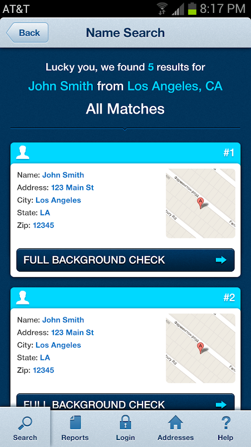 PeopleSpy Background Check - screenshot