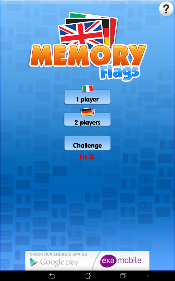 Memo Flags Games- screenshot