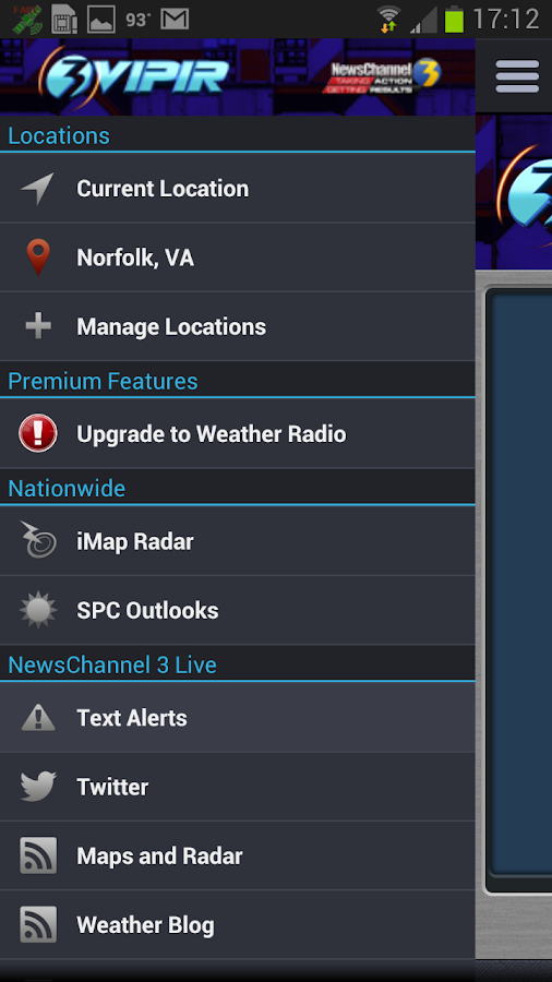 NewsChannel 3 Live VIPIR Radar - screenshot