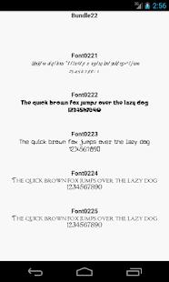 Fonts for FlipFont 22