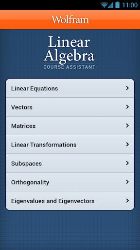 Linear Algebra Course App