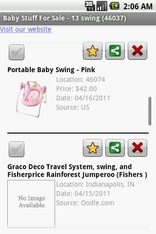 Baby Stuff Finder - screenshot