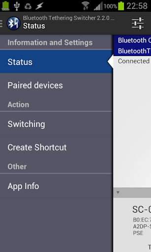 Bluetooth Tethering Switcher