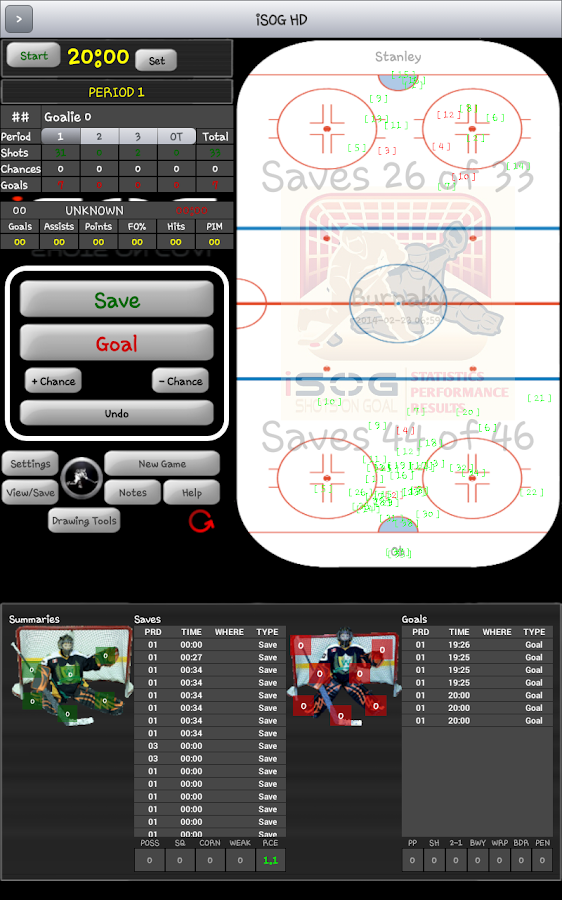 iSOG HD Lite Hockey Stats- screenshot