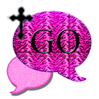 GO SMS THEME/PinkTigerCross icon