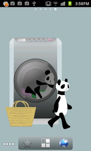 Panda washing Live Wallpaper 1.8 Windows u7528 5