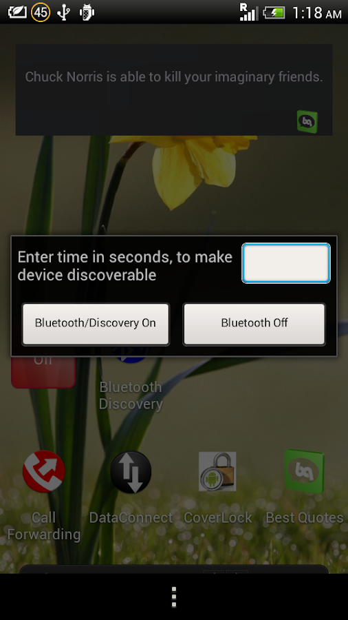 Bluetooth Discovery- screenshot