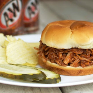 Root Beer Pulled Pork Sandwiches.