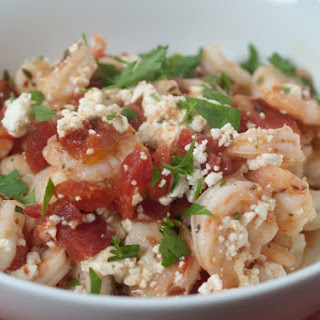 Shrimp Baked With Feta, Ouzo And Cognac.