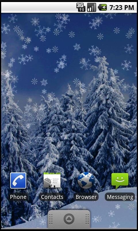 Holiday Snow Live Wallpaper LT - screenshot