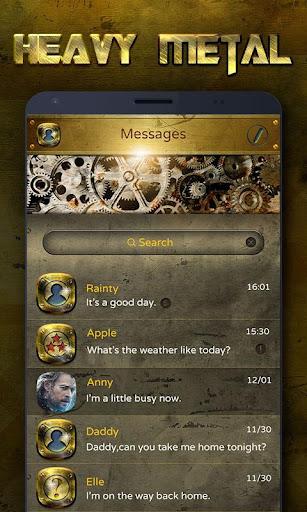 GO SMS PRO HEAVY METAL THEME