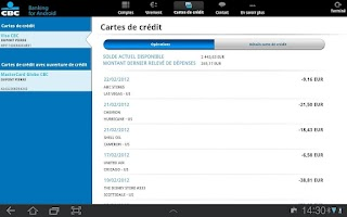 Screenshot of CBC-Mobile Banking for Tablet