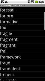 Vocabulary Trainer TOEFL- screenshot thumbnail