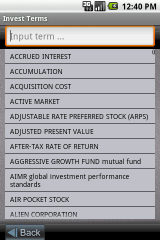 Invest Terms