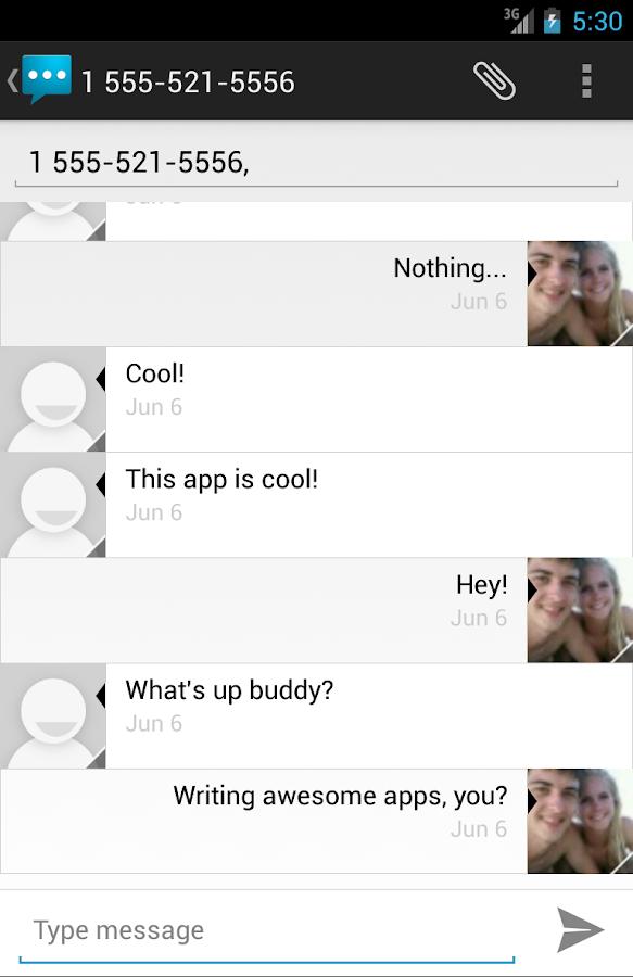 Google Voice Messaging - screenshot
