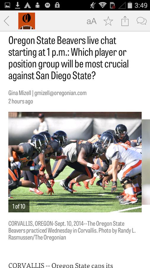 OregonLive: OSU Football News - screenshot