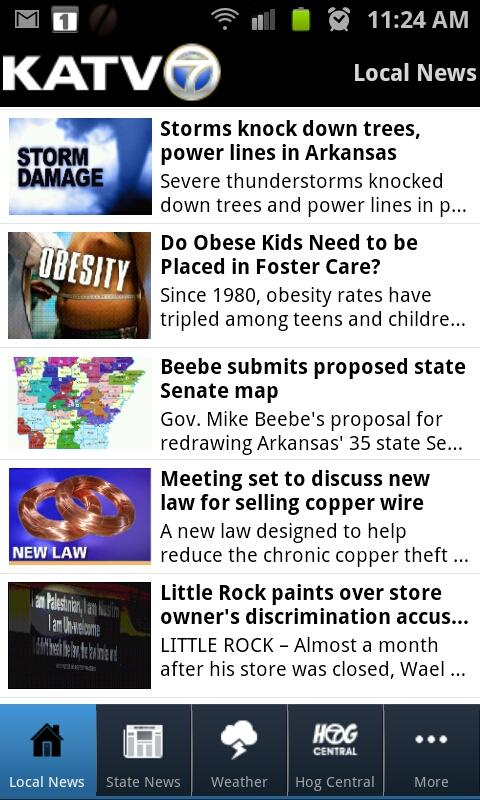 KATV Channel 7, Little Rock - screenshot