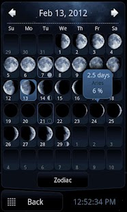 Deluxe Moon - Moon Calendar - screenshot thumbnail