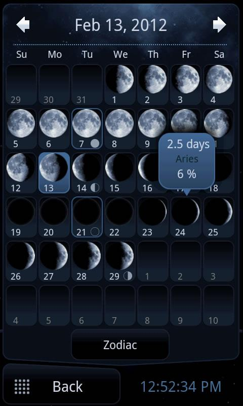 Deluxe Moon - Moon Calendar- screenshot