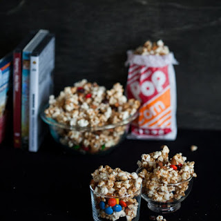Spicy Gooey M&M'S & Almond Popcorn.