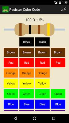 Resistor Color Code - screenshot