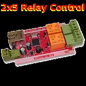 Plc relay 2x5 remote control