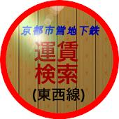 京都市営地下鉄運賃検索(東西線)