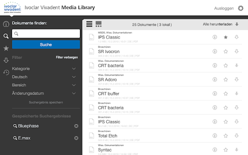 MediaLibrary – Miniaturansicht des Screenshots