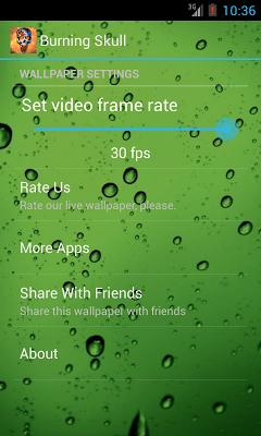 Burning Skull Video Wallpaper - screenshot
