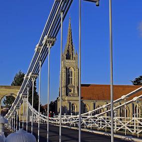 All Saints Church by Tony Murtagh - Buildings & Architecture Places of Worship ( blue sky, marlow, bucks, church, bridge, river thames )