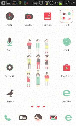 LittlePeople go launcher theme