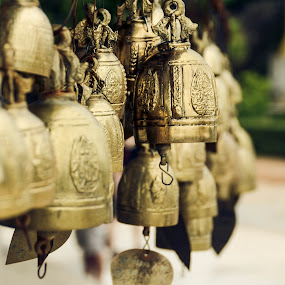 Wishing Bells by Papin Michael - Artistic Objects Other Objects ( big budhha, bell, wish, phuket,  )