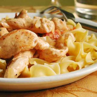 Chicken Stroganoff.