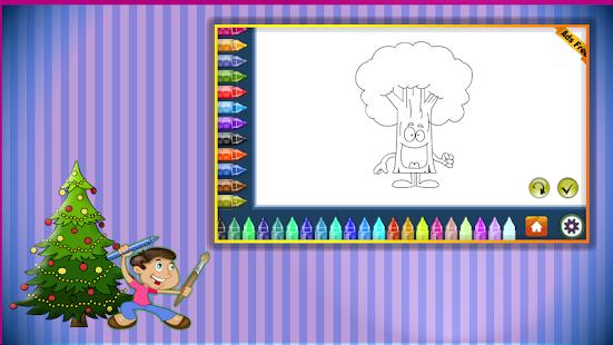 Coloring Book Trees Screenshot Thumbnail