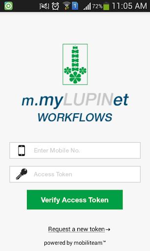 m.myLUPINet WORKFLOWS