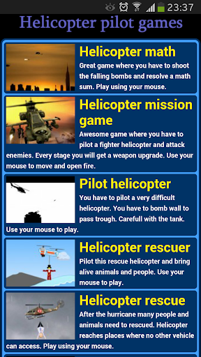 Helicopter pilot games