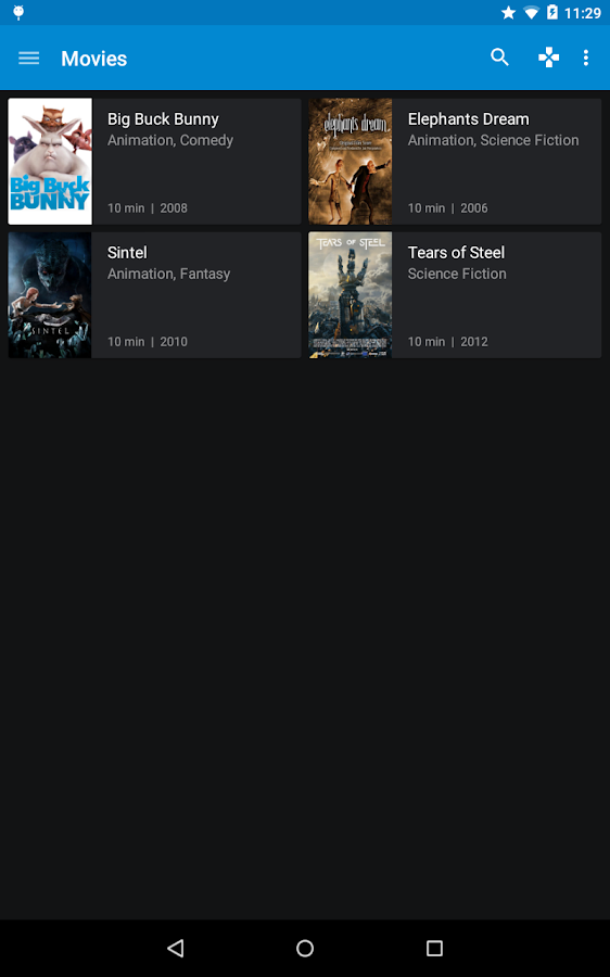 Kore, Official Remote for Kodi- screenshot