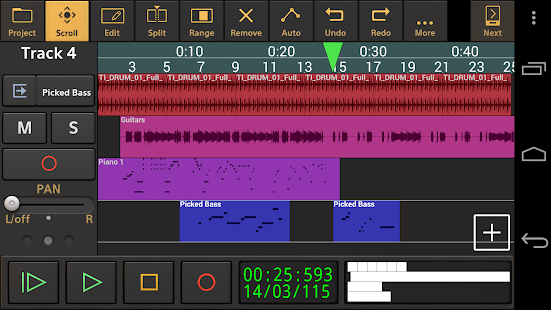 Audio Evolution Mobile Studio TRIAL Screenshot