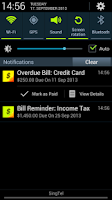 Screenshot of Bills Reminder