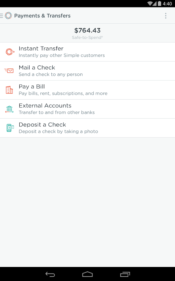 Simple - Better Banking - screenshot