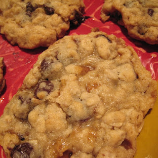 Oatmeal Chocolate Chip Toffee Cookies.