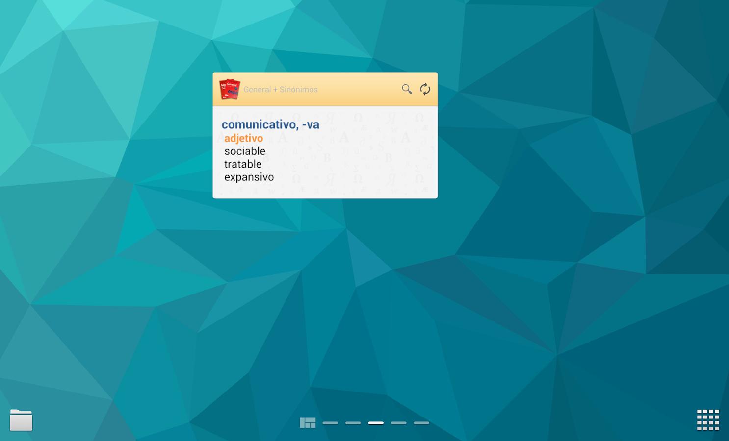VOX General Spanish +Thesaurus - screenshot