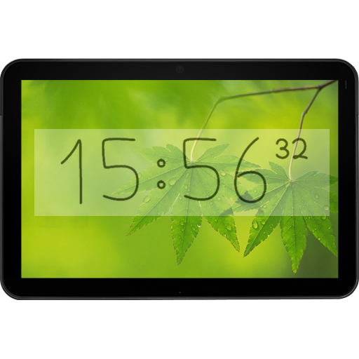 Bézier Clock - live widget