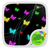 Neon Butterflies Keyboard APK for Blackberry