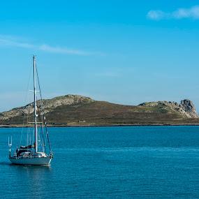 Coming home by Jacek Steplewski - Landscapes Waterscapes ( waterscape, sailing, harbour, sea, seascape, sailboat, sail boat, island )