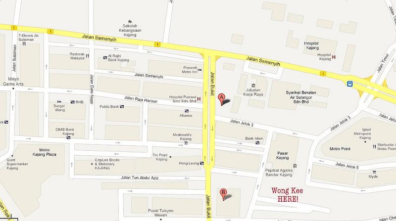 Map @ Wong Kee Restaurant - Malaysia Food & Restaurant Reviews