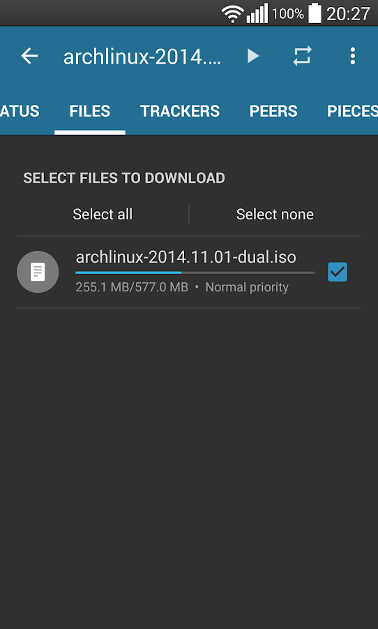 Flud - Torrent Downloader- screenshot